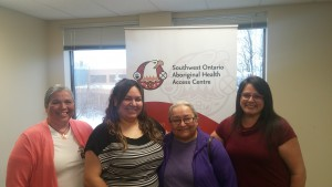 Visiting Aboriginal Midwives from Six Nations Birthing Centre joined us for the announcement. These dedicated women are already providing service across the region. Miigwetch/Yaw^ko/Thank you for joining us!